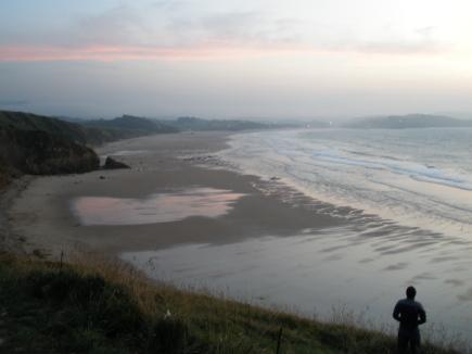 Vistes de la platja des de la zona de Gerra